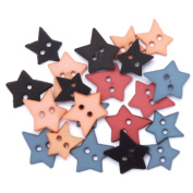 Favourite Findings Buttons-Heritage Stars 23/Pkg