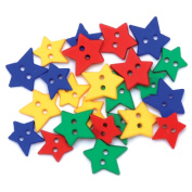 Favourite Findings Buttons-Primary Stars 23/Pkg