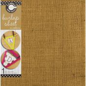 Unsewn Burlap Sheet 100% Jute 30cm x 30cm -Light Pink