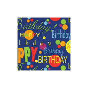 "Gift Wrap 1.5mx30""-Birthday Blue"