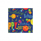 "Gift Wrap 1.5mx30""-Birthday Blue"