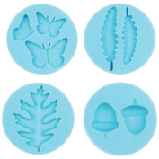 Martha Stewart Crafter's Clay Silicone Moulds 4/Pkg-Woodland