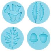 Martha Stewart Crafter's Clay Silicone Moulds 4/Pkg-Woodland