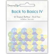 Back To Basics IV Buttons 60/Pkg