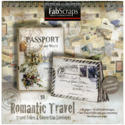 Romantic Travel Folios & Envelopes Die-Cut Work Book 20cm x 20cm -40 Pages Featuring 16 Different Designs