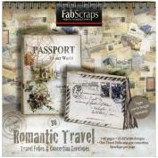 Romantic Travel Folios & Envelopes Die-Cut Work Book 20cm x 20cm -40 Pages Featuring 16 Different Designs
