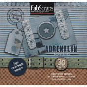 Adrenaline Die-Cut Work Book 20cm x 20cm -30 Pages Featuring 6 Different Designs