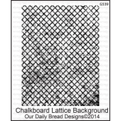 Our Daily Bread Cling Rubber Stamp 13cm x 17cm -Chalkboard Lattice Background