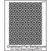 Our Daily Bread Cling Rubber Stamp 13cm x 17cm -Chalkboard Fan Background
