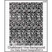 Our Daily Bread Cling Rubber Stamp 13cm x 17cm -Chalkboard Vine Background
