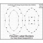 Our Daily Bread Clear Rubber Stamp 14cm x 22cm -Flourish Label Borders