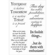 Woodware Clear Stamps 10cm x 15cm Sheet-Inspirational Verses