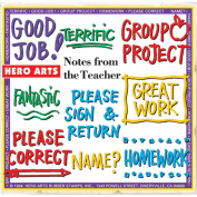 Hero Arts Mounted Rubber Stamp Set 8.3cm x 8.3cm -Notes From The Teacher Stamps