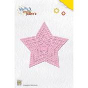 Nellie's Choice Multi Frame Dies-Decorative Star, 7/Pkg