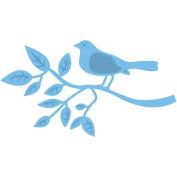 Marianne Design Creatables Dies-Bird On A Branch, 8.9cm x 5.1cm