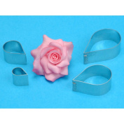 Metal Cutters 4/Pkg-Rose Flower
