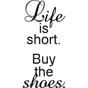 Riley & Company Funny Bones Cling Mounted Stamp 2.5cm x 6.4cm -Life Is Short, Buy The Shoes