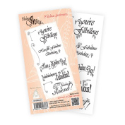 Katy Sue Designs Fabulous Shoe Clear Stamps 10cm x 20cm Sheet-Fabulous Sentiments