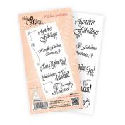 Katy Sue Designs Fabulous Shoe Clear Stamps 10cm x 20cm Sheet-Fabulous Sentiments