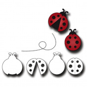 Elizabeth Craft Metal Die-Ladybugs