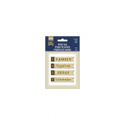 Naturals Wood Tags 4/Pkg-Family
