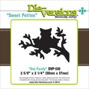 Die-Versions Sweet Petites Die-Owl Family, 6.7cm x 5.7cm