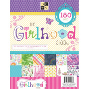 Paper Stack 22cm x 28cm 180/Sheets-Girlhood, 60 Designs/3 Each