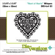 Die-Versions Whispers Die-Heart Of Hearts, 9.2cm x 9.2cm