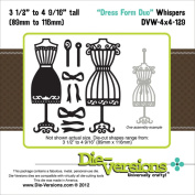 Die-Versions Whispers Dies-Dress Form Duo, 8.9cm To 12cm