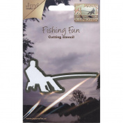 Joy! Crafts Cut & Emboss Die-Fishing Fun - Fisherman Sitting, 3.8cm x 7.6cm