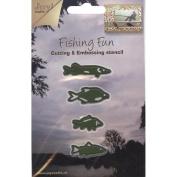 Joy! Crafts Cut & Emboss Die-Fishing Fun - Fish, .13cm To 4.1cm