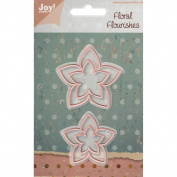 Joy! Crafts Cut & Emboss Die-Floral Flourishes - Flower 2, 5.4cm
