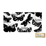 Christy Tomlinson Unmounted Rubber Stamp 6.4cm x 13cm -Butterfly Collage