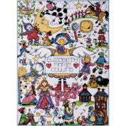 Nursery Rhymes Counted Cross Stitch Kit-28cm x 38cm 14 Count