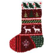 Latch Hook Kit 30cm x 43cm , Winter Bands Stocking