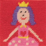 1st Kit Ruby Tapestry Kit-10cm x 10cm 10 Count Canvas Stitched In Wool