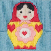 1st Kit Maria Long Stitch Kit-10cm x 10cm 12 Count Stitched In Wool
