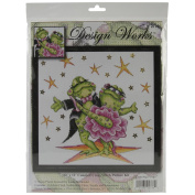 Dancing Frogs Counted Cross Stitch Kit-30cm x 30cm 14 Count