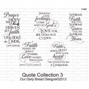 Our Daily Bread Cling Rubber Stamp 13cm x 17cm -Quote Collection 3