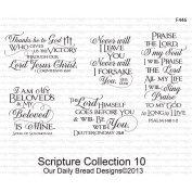 Our Daily Bread Cling Rubber Stamp 13cm x 17cm -Scripture Collection 10