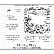 Our Daily Bread Cling Rubber Stamp 13cm x 17cm -Morning Glory