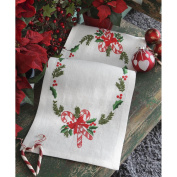Christmas Candy Runner Freestyle Embroidery Kit-25cm - 1.6cm x 80cm