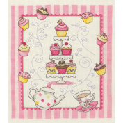 Cupcakes Sampler Counted Cross Stitch Kit-23cm - 1.3cm x 20cm