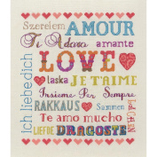 Love Sampler Counted Cross Stitch Kit-23cm - 1.3cm x 20cm
