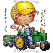 La-La Land Cling Mount Rubber Stamps 10cm x 7.6cm -Luka On Tractor