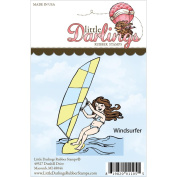 Little Darlings Unmounted Rubber Stamp 7.3cm x 10cm -Wind Surfer