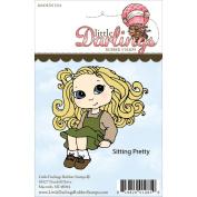 Cutie Pies Unmounted Rubber Stamp-Sitting Pretty