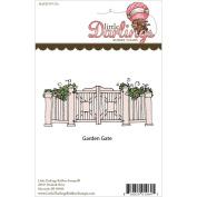 Little Darlings Unmounted Rubber Stamp 14cm x 6cm -Garden Gate