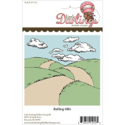 Little Darlings Unmounted Rubber Stamp 8.9cm x 8.3cm -Rolling Hills