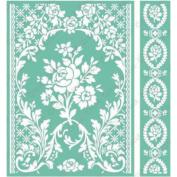 Cuttlebug 13cm x 18cm Embossing Folder/Border Set-Rose Pavilion By Anna Griffin